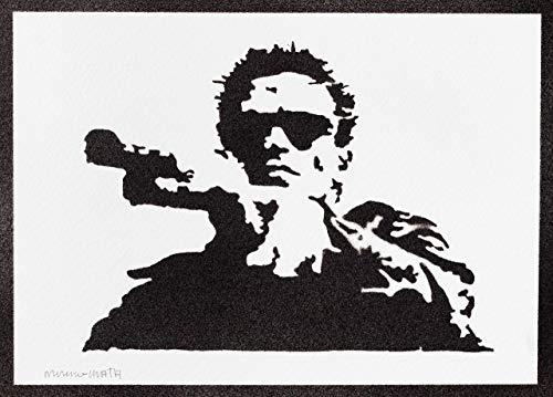 Terminator Poster Plakat Handmade Graffiti Street Art - Artwork