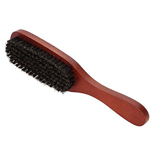 Cepillo para barba para hombre Rojo Cerdas de madera Bigote Afeitado Limpieza Barber Salon Appliance Tool Barba peine para el cabello ayuda a suavizar bigotes