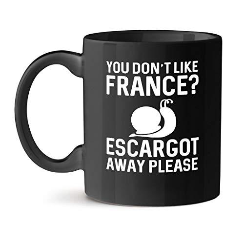 N\A ¿No te Gusta Francia? Caracoles, por Favor Taza de café Negro