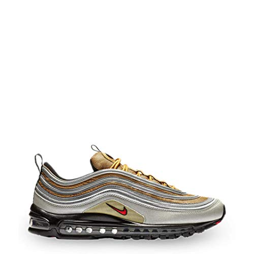 Nike Air Max 97 SSL Herren Running Trainers BV0306 Sneakers Schuhe (UK 11 US 12 EU 46, metallic Silver University red 001)