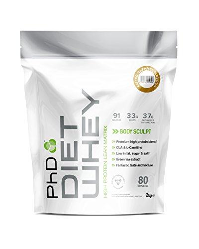PhD Nutrition Diet Whey Protein Powder, Salted Caramel, 2 Kg