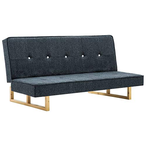 Tidyard Schlafsofa, Klappsofa, 2-Sitzer Stoffsofa, Bettsofa, Sofa mit Schlaffunktion, Dunkelgrau/Weiß, 157 x 81 x 74,5 cm