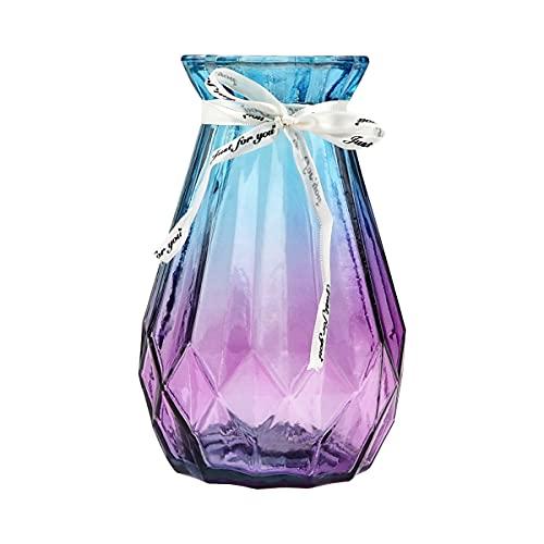 Xiangmall Jarrones Vidrio Geométrico Jarrón Moderno Cristal Jarrones Flores Decorativos para Hogar,...