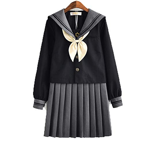 WTFYSYN Divise della Gonna dell'uniforme JK Divise Scolastiche degli Studenti delle scuole Superiori del Marinaio Giapponese Uniformi del Vestito