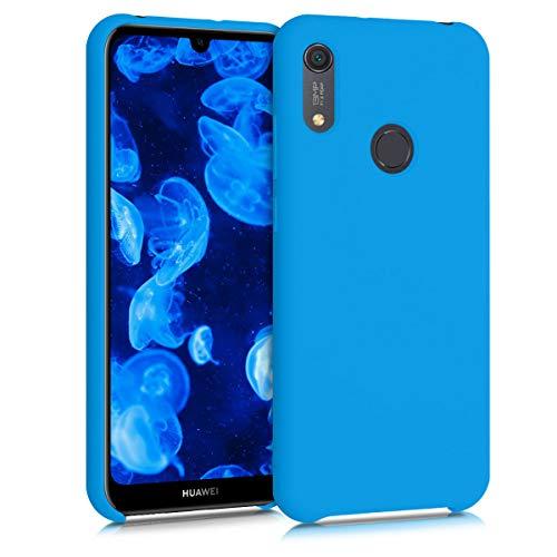 kwmobile Hülle kompatibel mit Huawei Y6s (2019) - Handyhülle gummiert - Handy Hülle in Blue Temptation