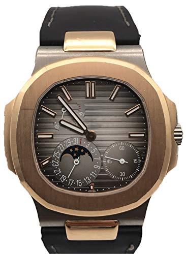 Luxusmarke Automatische Mechanische Selbstwind Transparent Glas Mondphase Silber Rotgold grau Weiß Schwarz Sportuhr Edelstahl Uhr