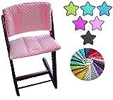 Little Sweetz ** TRIPP TRAPP Set MINKY COLORS ** Coussin d'assise et réducteur de siège pour chaise haute Compatible avec Tray Table