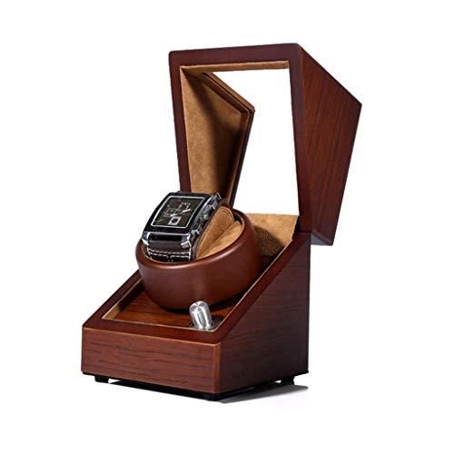 ZHANGYH Caja de reloj mecánica automática, 5 modos de rotación con motor silencioso, caja de visualización de almacenamiento de relojes (color: A)