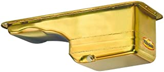 Milodon 31130 Steel, Gold Zinc Plated Street and Strip Deep Sump Oil Pan for Ford 390-428