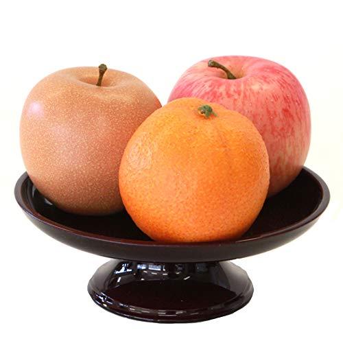 山久 リアルなお供えフルーツ 模型 3点セット (器付き) Aセット(りんご 梨 オレンジ) 1804-9806-A 果物 フェイク 食品サンプル イミテーション お彼岸 お盆 お仏壇 skf