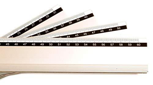 Artcare 1580403052x 0,5x 4,5cm 50cm Regla de Aluminio, Color Plateado
