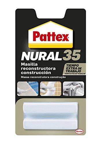 Pattex Nural 35 Masilla Reconstructora de Materiales de Construcción, Blanco, 50 gr