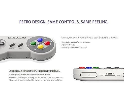 QUMOX SNES30 Pro Controlador Bluetooth Gamepad Japón Versión para Android/Windows/Mac/Nintendo Switch