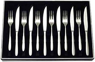 Stellar bw36de Tenedor y Cuchillo Set, Plata, 12