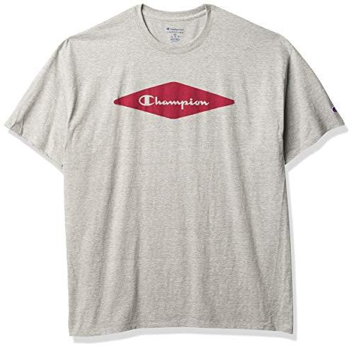 Champion Classic tee Camiseta, Oxford Gray Vintage Badge Script - Bañador, XL para Hombre