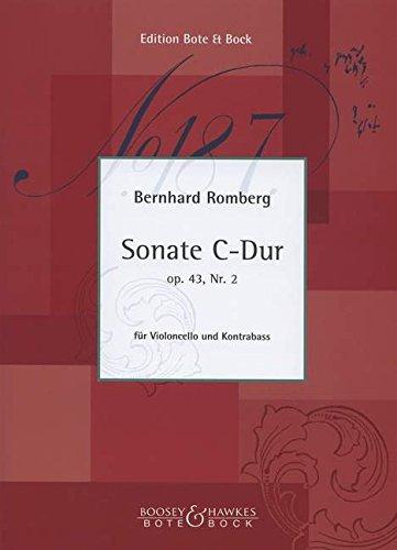 Sonate C-Dur: op. 43/2. Violoncello und Kontrabass. Spielpartitur. (Repertoire Philharmonisches Duo Berlin Jörg Baumman - Klaus Stoll)