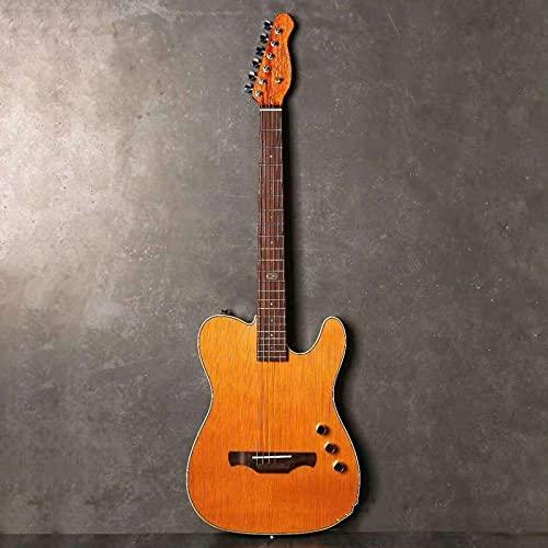 KEPOHK Guitarra clásica silenciosa de cuerpo fino 39 pulgadas 22 trastes Madera maciza Tapa de cedro rojo Madera de Okoume Parte posterior y lateral Clásica 39 pulgadas modelo acústico