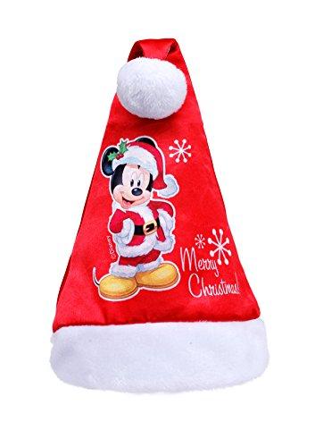 Ciao- Cappello Babbo Natale Disney Mickey per Bambini, Rosso, Taglia Unica, 90903
