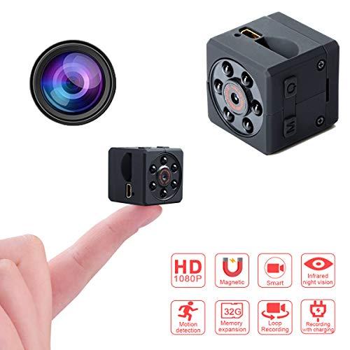 Fekkii Microcámara espía, 1080P HD Cámara de vigilancia Oculta con visión Nocturna/Detección de Movimiento Cámara de vigilancia para Interiores/Exteriores/Sports DV