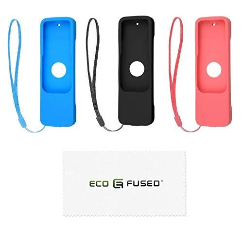 Eco-Fused Cubierta de Control Remoto - Compatible con Apple TV - con Correa de muñeca - 3 Paquetes - 4ª generación - Protector Antideslizante de Caucho de Silicona Shield - Absorción de Golpes