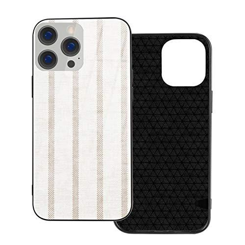 Compatible con iPhone 12 Pro Max, carcasa resistente de cuerpo completo, funda de vidrio TPU suave para iPhone 12 Pro Max 6.7 pulgadas, yute de garrapatas espaciado más ancho Aegean