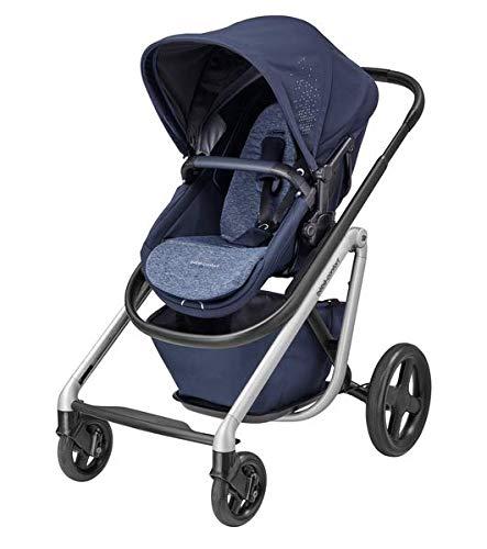 Bébé Confort Lila Poussette Tout terrain, confortable, hamac transformable en couffin, de la naissance à 3 ans et demi, 0 à 15 kg, Nomad Blue (bleu)
