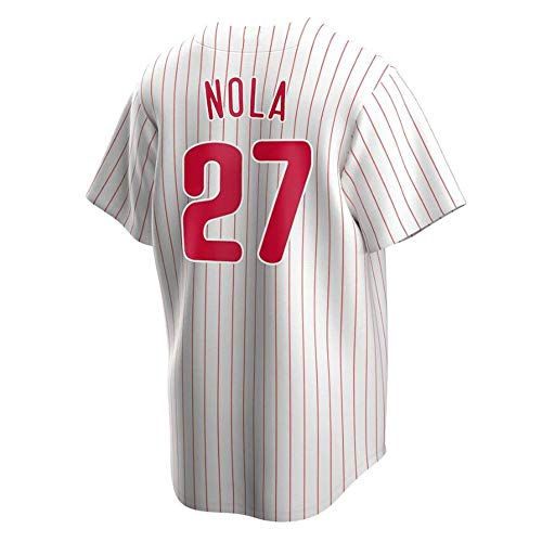 W&F Aaron NOLA Philadelphia Phillies Fan-Baseball-Shirt, Baseball-Short Sleeve Sweatshirt Top (Color : A, Size : XL)