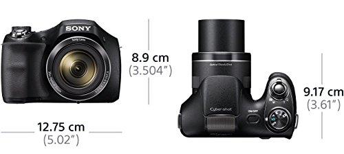 Sony DSC-H300 Digitalkamera Einstiegsbridge (20,1 MP, optischer 35fach Zoom, 25mm Weitwinkel-Objektiv, optischer Bildstabilisator SteadyShot, HD Video) schwarz
