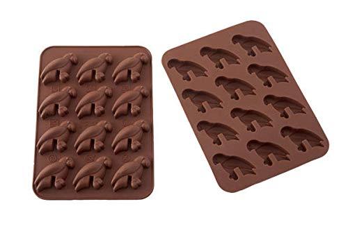 Silikomart Wonder Cakes by 22.508.77.0069 Moule en Silicone, Forme Perroquet, Marron, 1 x 11,5 x 17,3 cm