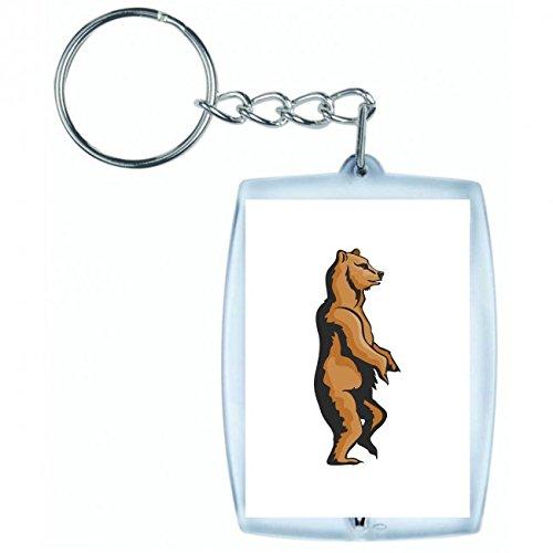 Druckerlebnis24 Schlüsselanhänger - Bär Stehend Laufen Bärenfamilie Wald Wildnis Tiere - Keyring - Taschenanhänger - Schlüsselring