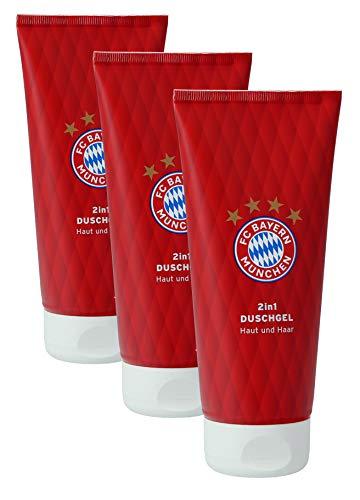 FC Bayern München Duschgel 2in1 Haut und Haar (3 x 200 ml Flaschen)