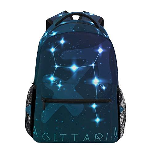 Jeansame Rucksack Schultasche Laptop Reisetasche für Kinder Jungen Mädchen Damen Herren Schütze Astrologie Sterne Sternbild