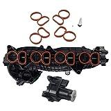 11614728712 Colector de admisión + actuador + kit de reparación para B-M-W 1 (E81 E82 E87 E88), 3 (E90 E91E92 E93), 5 (E60 E61), X1 (E84), X3 (E83) con motor N47 11617804744 11617811300