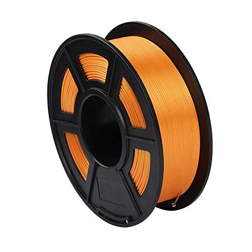 PLA Silk Filament 1.75mm, 3D Printer Filament 1kg (2.2lb), Dimensional Accuracy +/- 0.02mm-Gold