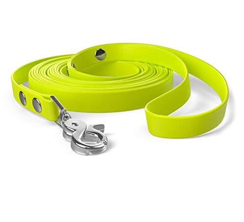 SNOOT 5m Schleppleine, Hundeleine, Handschlaufe, Neon-Gelb, sehr stabil, schmutz- und wasserabweisend