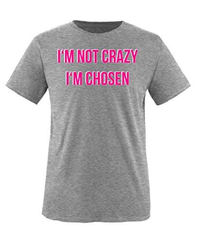 Comedy Shirts - I\'m not Crazy. I\'m Chosen - Orange is The New Black - Mädchen T-Shirt - Grau/Weiss-Pink Gr. 152/164