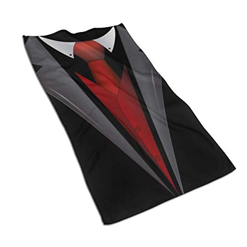 Krawatte Clipart Smoking Handtücher Badetuch Weiche saugfähige Badetuch Küchentuch Gästetuch Home Bad Dekorationen, 27,5x15,7 In