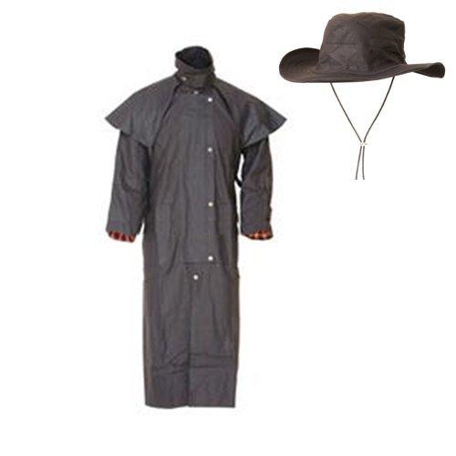 Lakota Regenjacke mit gewachster Jacke und Hut
