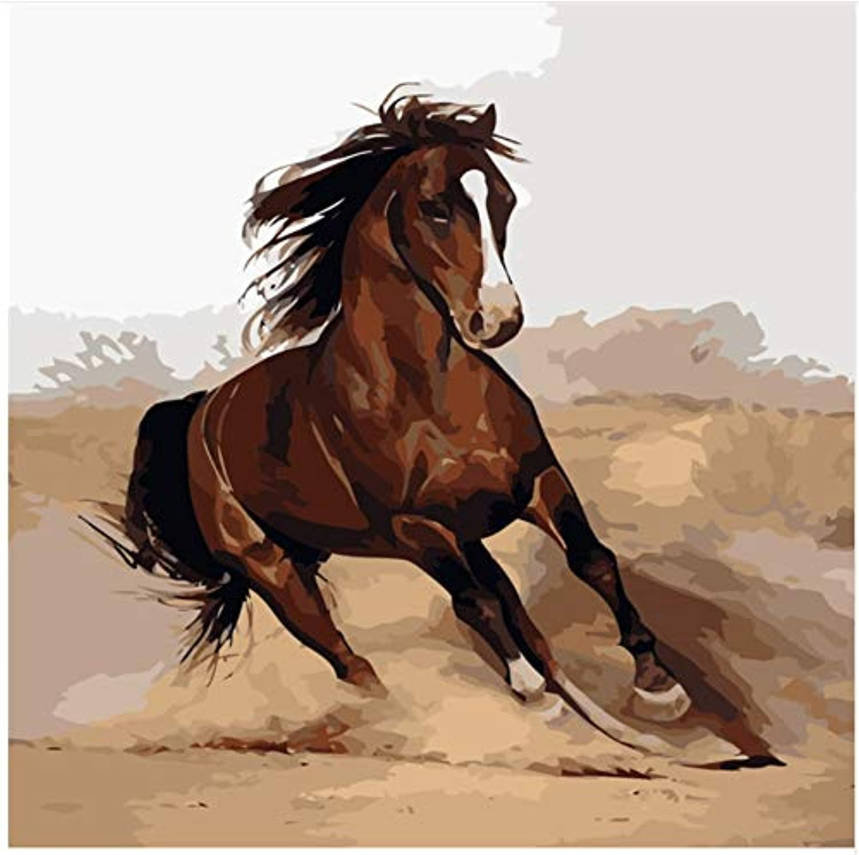 Superlucky Running Horse Malen nach Zahlen auf Leinwand Leinwand Leinwand DIY einzigartige Digitale Wohnkultur Färbung nach Zahlen Bild Geschenk Malerei Wand gemalt gerahmt 40x50 cm B07L86NR6V   Sonderpreis  357c8d