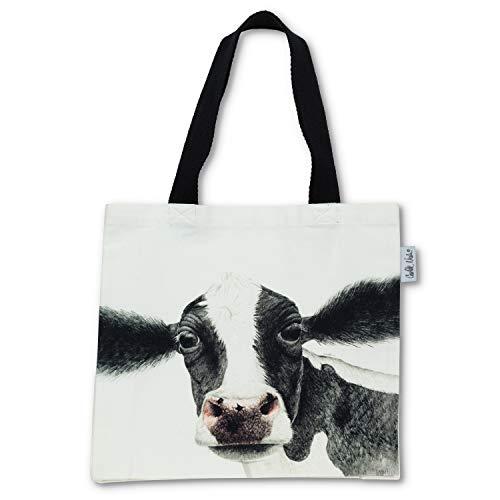 Abbott Collection 56-TB-CN-05 - Bolsa de mano (15 x 16 L), diseño de vaca, color blanco y negro