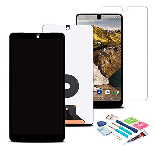 XR MARKET Compatible Essential Phone PH-1 Screen Replacement, LCD Display Touch Screen Digitizer Assembly 5.7'' with Tools, Screen Protector Black