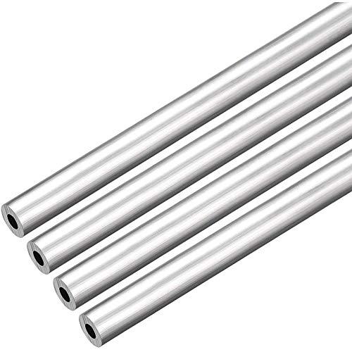 LOKIH Metales de precisión Redondo de Aluminio 4pcs Tubo Diámetro Exterior Espesor de Pared de 14 mm de Longitud 0,5 mm 500mm