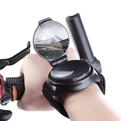 GESTAND Fahrradspiegel Handgelenk 360° Drehspiegel Verstellbar Armband Fahrrad Rückspiegel Fahrrad Spiegel für Pendler Kid Geschenk