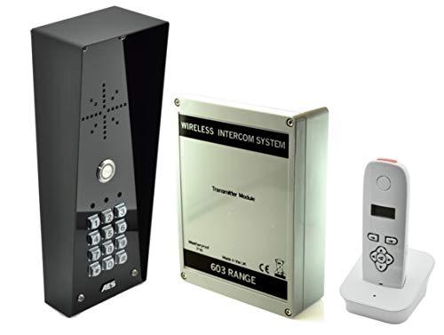 AES 603 DECT - Sistema de intercomunicación inalámbrico (punto de acceso imperial) con teclado numérico y sistema de control de acceso para puertas de entrada