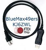 BlueMax49ers FTDI USB Programming Cable Motorola CDM750 CDM1250 CDM1500 CDM1550 GM140 GM160 GM328 GM338 GM340 GM360 GM380 GM399 PRO3100 PRO5100 PRO7100 MM