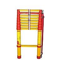 ZR 折り畳み梯子, エクステンションラダー、折りたたみ式ストレートラダー、絶縁FRP材、家族用、屋外、セキュリティ アウトドア伸縮はしご (サイズ さいず : Straight ladder 5m(16.4 ft))