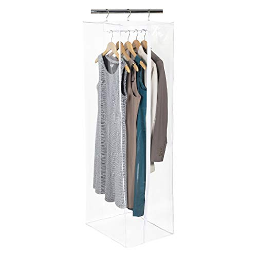 Richards Homewares Clearly Organized Dress Bag Clear Vinyl Storage Maxi Rack Suit Garment Cover 15' x 20' x 42'