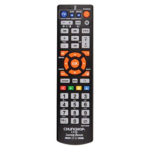 『(inkint)マルチAVリモコン ユニバーサル英語TVスマートIRリモコン 学習機能 ABS素材 ブラック』の1枚目の画像