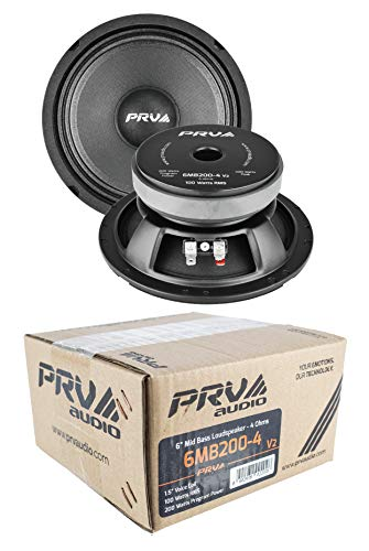 Great Features Of 2X 6 Full Range Mid Bass Loud Speaker 4 Ohm 6MB200V2 400 Watts PRV Audio