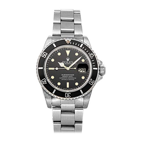 Rolex Submariner Mechanical (Automatic) Black Dial Mens Watch 16800 (Certified Pre-Owned)